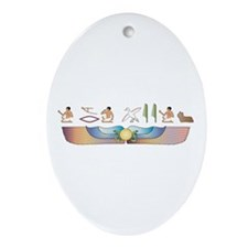Skye Hieroglyphs Oval Ornament