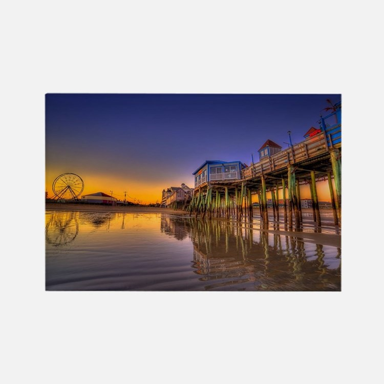 Old Orchard Beach  Rectangle Magnet