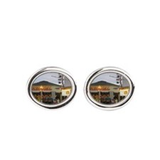Old Orchard Beach  Oval Cufflinks