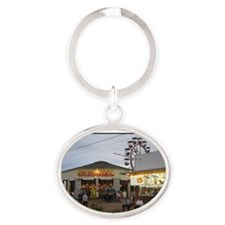 Old Orchard Beach  Oval Keychain