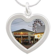 Old Orchard Beach  Silver Heart Necklace