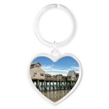 Old Orchard Beach  Heart Keychain