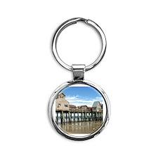 Old Orchard Beach  Round Keychain