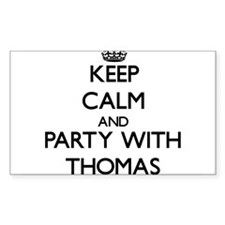 Keep calm and Party with Thomas Decal