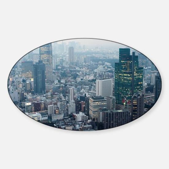 tokyo midtown Sticker (Oval)