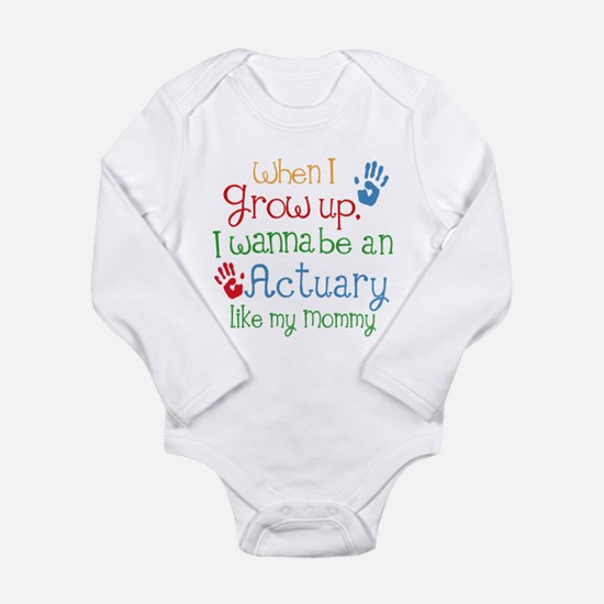 Actuary Like Mommy Long Sleeve Infant Bodysuit