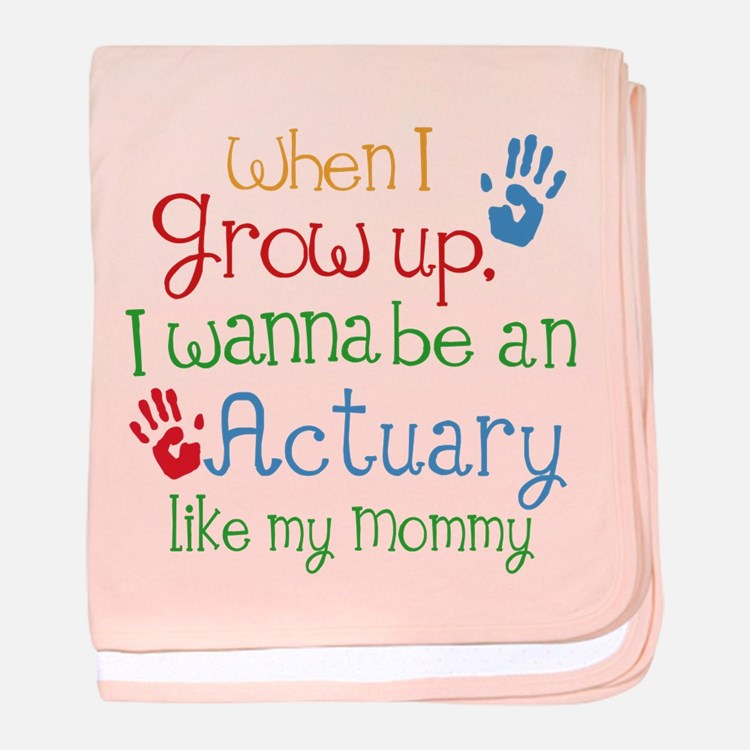 Actuary Like Mommy baby blanket
