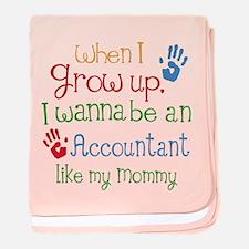 Accountant Like Mommy baby blanket