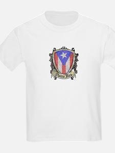 Puerto Rico Flag - Shield Crest T-Shirt