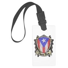 Puerto Rico Flag - Shield Crest Luggage Tag