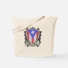 Puerto Rico Flag - Shield Crest Tote Bag