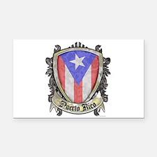 Puerto Rico Flag - Shield Cre Rectangle Car Magnet
