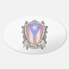 Puerto Rico Flag - Shield Crest Sticker (Oval)