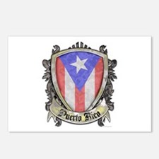 Puerto Rico Flag - Shield Postcards (Package of 8)