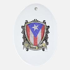 Puerto Rico Flag - Shield Crest Ornament (Oval)