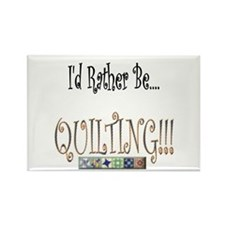 I'd Rather Be Quilting Rectangle Magnet (100 pack)