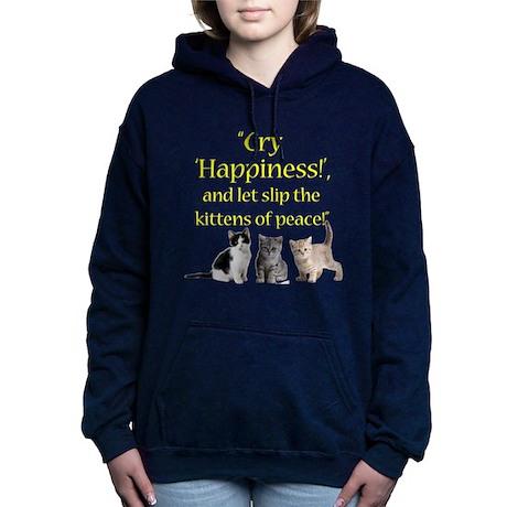 Kittens Of Peace Women's Hooded Sweatshirt