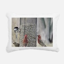 Wisconsin Birds at the f Rectangular Canvas Pillow