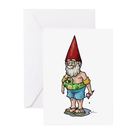 Poolside Gnome Greeting Cards (Pk of 10)