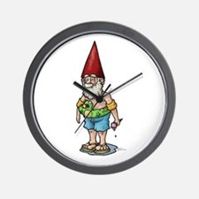 Poolside Gnome Wall Clock