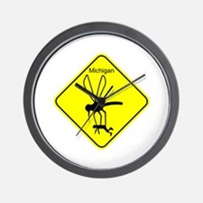 Mich State Bird Mosquito Wall Clock