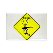 Fla State Bird Mosquito Rectangle Magnet