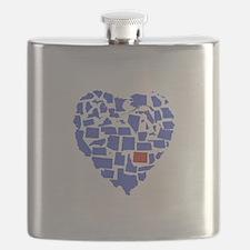 Colorado Heart Flask