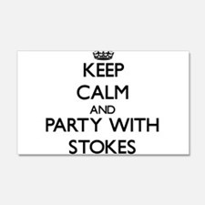 Keep calm and Party with Stokes Wall Decal