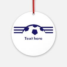 Custom Soccer Design Ornament (Round)