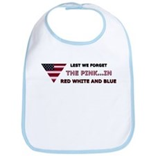 The Pink In Red White & Blue Bib