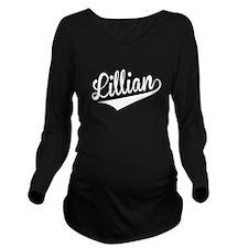 Lillian, Retro, Long Sleeve Maternity T-Shirt