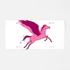 Cute Pink Pegasus Aluminum License Plate