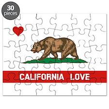 Cute I love california Puzzle