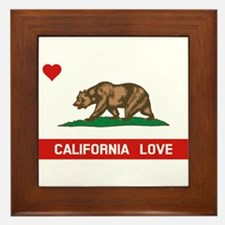 Funny California republic Framed Tile