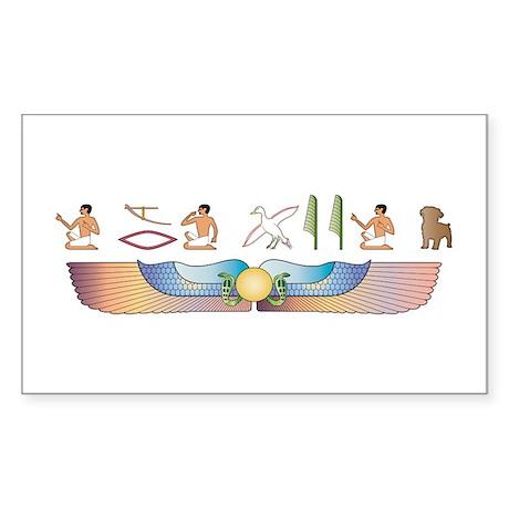 Schnoodle Hieroglyphs Rectangle Sticker
