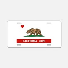 California Love Aluminum License Plate