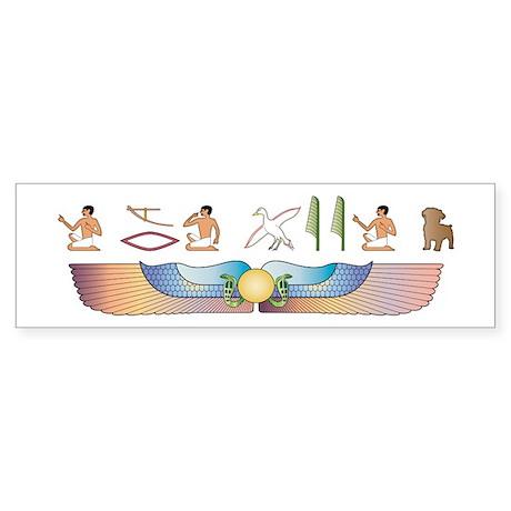 Schnoodle Hieroglyphs Bumper Sticker