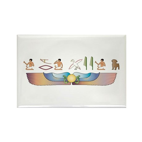 Schnoodle Hieroglyphs Rectangle Magnet (100 pack)