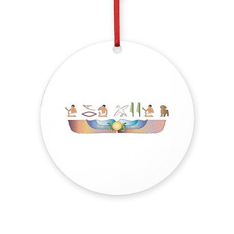 Schnoodle Hieroglyphs Ornament (Round)