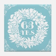 63rd Anniversary Wreath Tile Coaster