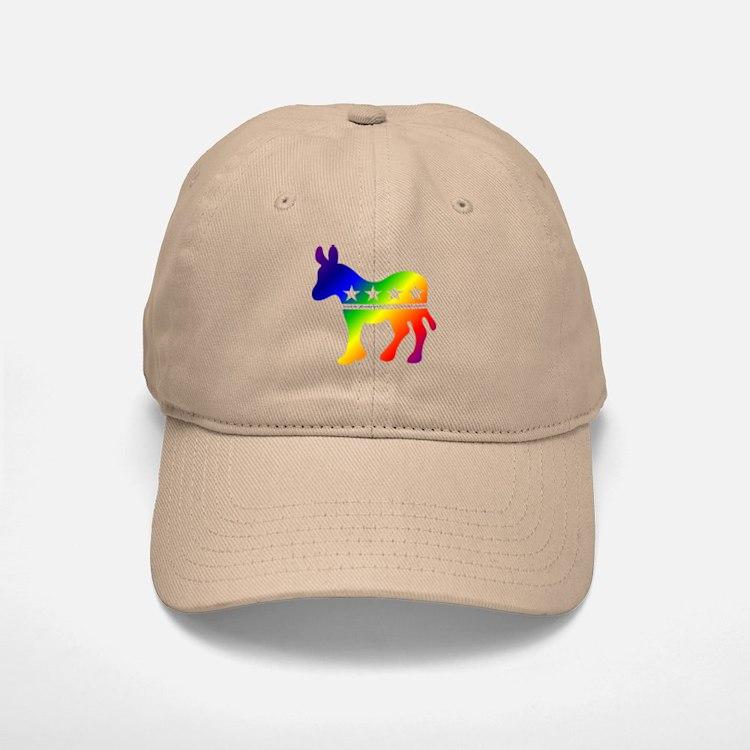 Democratic Rainbow Donkey Baseball Baseball Cap