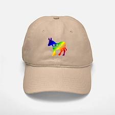 Democratic Rainbow Donkey Cap