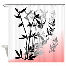 5x6 Bamboo black n grey tone Shower Curtain