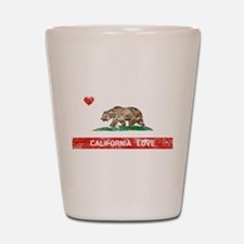 Cute California flag Shot Glass