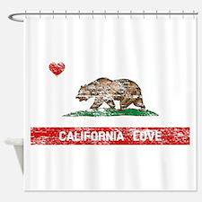 Funny Hollister california Shower Curtain