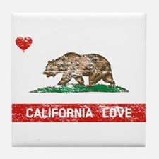 Cute California republic Tile Coaster