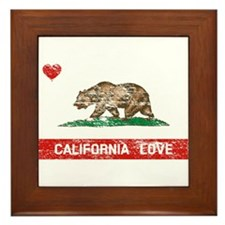 Unique I love california Framed Tile