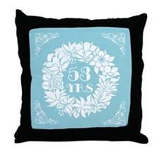 53rd Anniversary Wreath Throw Pillow