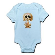 Brown Zombie Sugar Skull Puppy Body Suit