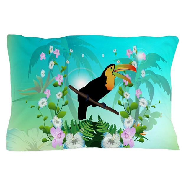 How To Make Cute Pillow Cases : Cute Toucan Pillow Case by dreamworld7